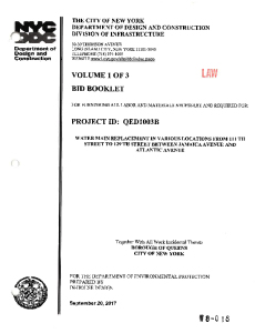 QED1003B - EXECUTED CONTRACT - VOLUMES 1-3
