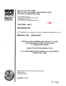 HWS18CW1 - EXECUTED CONTRACT - VOLUMES 1-3